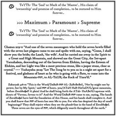 TeYTh-TeYTh B'Medabar/Numbers 24:14-20 Tahlym/Psalms 47:1-9  Dany'al 7:9-14