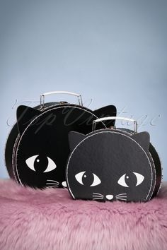 8b33e4a847 These 60s Lucky the Black Cat Suitcases are the most  purrrfect  retro  suitcases you