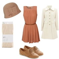 A fashion look from January 2012 featuring Glamorous dresses, Warehouse coats and H&M tights. Browse and shop related looks.