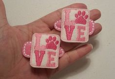 Puppy Love - Felt Hair Clippies - Set of 2 - Ready to Ship