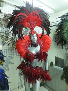 Diy Costumes, Dance Costumes, Halloween Costumes, Fantasy Costumes, Costume Ideas, Carnival Outfit Carribean, Phoenix Costume, Halloween Karneval, Samba Costume