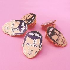 This pin features Johnny Depp in his early role as Wade Walker in Cry Baby.It wouldmake a great gift for any 90s fan, as well as makers, designers and pop cul