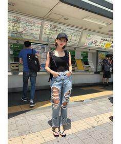 Korean Street Fashion, Korea Fashion, Asian Fashion, Girl Fashion, Fashion Outfits, Fashion Design, Ulzzang Fashion, Ulzzang Girl, Korean Girl