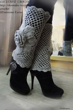 Polaina croche... new style leg warmers,,,way prettier than what we had in the 80's