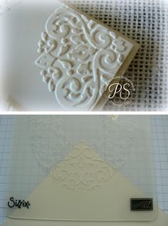 NEW Climbing Metal Bud emboss Border lace Stencil Vine flower
