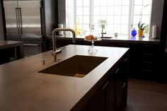Really neat concrete counter top
