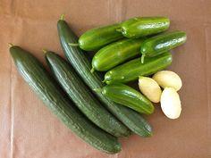 Komkommers 3 soorten  Snack komkommer