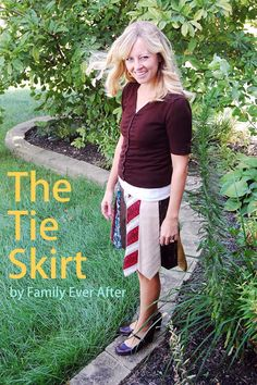 Family Ever After....: How to make a skirt out of ties.