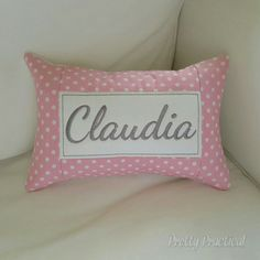 I received another order for one of these pink and grey personalised cushions. And it's being delivered today!