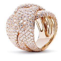 Palmiero Intrecci Ring 18 ct rose gold diamonds