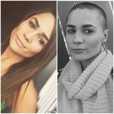 WEBSTA @ buzzcutfeed - Grow Back Long Or ReShave ❔❔❔Thanks @neziiii_xo #BuzzCutFeed #ShavedHead#BuzzCut #BuzzCuts#BuzzCutChallenge#GirlsWithBuzzCuts#GirlsWithShavedHeads#GirlsWithShortHair#GirlsWithShavedHair #ShortHaircut #ShavedHair#ShortHairDontCare #ShortHair#LongToShort #BeforeAndAfter #LongHair #HairTransformation