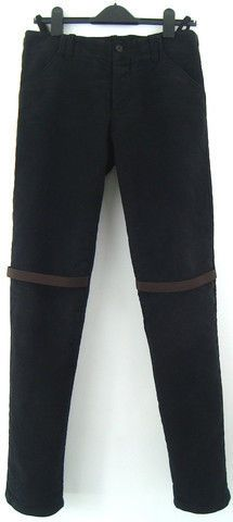 Helmut-Lang-a-w98-Heavy-Moleskin-Cotton-Slim-Trousers-with-Elastic-Straps