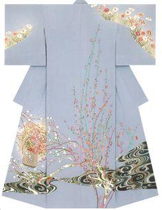Kaga-Yuzen Kimono - Akeji Inade