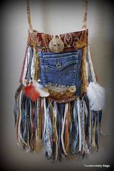 Festival Bag, Bohemian, Boho Gypsy, Fringe, Hippie, Indie by PursenicketyBags on Etsy