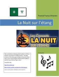 Browse Franco ontario festival resources on Teachers Pay Teachers, a marketplace trusted by millions of teachers for original educational resources. Core French, French Class, Ontario, Le Concert, French Education, Teaching Resources, Teaching Ideas, Music Activities, Culture