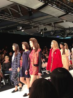 Twenty Seven Names showing their Winter '14 collection at New Zealand Fashion Week.