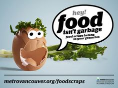 City of Vancouver Food Scraps Program: Enter to win a Zero Waste Holiday prize pack until November 2014 Green Bin, Bubble Quotes, No Waste, Visual Communication, Scrap, How To Apply, City, Holiday