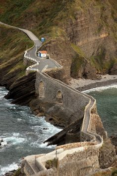 San Juan de Gaztelugatxe - Coast Of Biscay, Spain.  Go to www.YourTravelVideos.com or just click on photo for home videos and much more on sites like this.