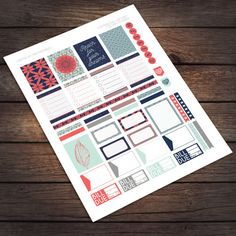 Aztec Dreams Printable Stickers for Erin Condren Life Planner / by VNBDesigns