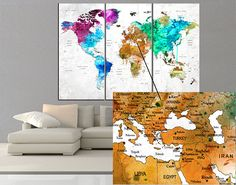 Push pin world map wall arts are popular in these days because the Peoples are constantly improving themselves, want to see new place and start to travel more than according to the past they want to save and see every day theirs memories with photos or notes where they traveled my items differences is i add eps sheet back of the canvas which is keep strongly the pin with photos or add notes. if i would be a buyer i would never prefer paper or cardboard for push pin world map because it can…