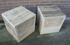 Steigerhout nachtkastje 'Kuby', steigerhout nachtkastje, nachtkastje steigerhout, steigerhouten nachtkastje by Livengo.nl