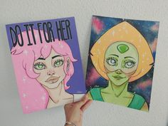 Mystery girl and Peridot!!  Etsy shop soon ♥♥♥  More on my instagram: www.instagram.com/Always_Zeta/ ............................................................... #drawing #draw #dibujo #ilustracion #illustration #fanart #art #original #arte #design #mysterygirl #mystery #girl #peridot #peridoto #steven #universe #crystalgems #gem #crystal #watercolor #ink #acrylic #paint #face #woman #pinkhair #alien #space #rebbeca #sugar #cool #galaxy #do #it #for #her #pearl #rose #quartz #love…