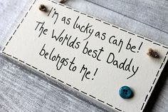 Father Birthday Gifts Gifts For Daddy from Son Daughter Plaque Sign Birthday Father's Day 1st Fathers Day Gifts, Father Birthday Gifts, Birthday Surprise Boyfriend, Birthday Cards For Mom, Fathers Day Quotes, Fathers Day Crafts, Birthday Crafts, Daddy Gifts, Birthday Gifts For Girls