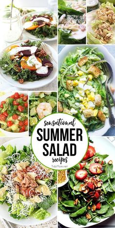 If you're in a lunch or dinner rut, check out these Sensational Salad Recipes they are quick and easy. With so many choices, you will have plenty of meal ideas! at TidyMom.net