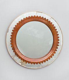 Lot : Marelli Specchiera Ottone, vetro specchiato, decoro in rovere scolpito. Prod.[...]   Dans la vente Design à Casa d'Aste della Rocca