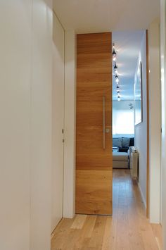 lovely wood sliding 'pocket door' - use for en-suite shower room? (to slide behind wardrobe and behind radiator-wall)
