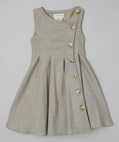 This Green Rose Button-Up Dress - Toddler by Le Bees Knees is perfect! #zulilyfinds