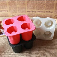 Silicone Freeze Mold Cool Ice Tray Party Shooters Supplies Shot Glasses N E1Xc