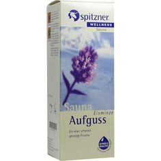 SPITZNER SAUNAAUFGUSS Eisminze Wellness:   Packungsinhalt: 190 ml Konzentrat PZN: 01092435 Hersteller: Dr.Willmar Schwabe GmbH & Co.KG…