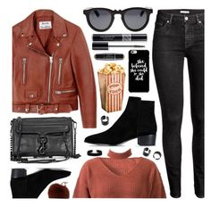 """""""Today's Inspiration"""" by monmondefou ❤ liked on Polyvore featuring Acne Studios, WithChic, Barbara Bui, Yves Salomon, Christian Dior, Earth, Fall, casual, black and red"""