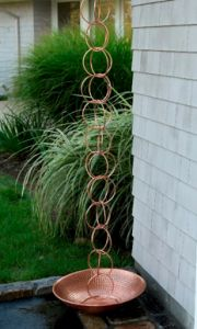 Beautiful copper rain chain