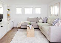 Family room design – Home Decor Interior Designs Basement Family Rooms, Living Room Playroom, Cozy Basement, Modern Basement, Basement Makeover, Basement Bedrooms, Basement Ideas, Modern Playroom, Basement Bathroom