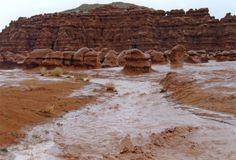 Goblin Valley flash flood.  http://www.weekendwomanwarrior.com/goblin-valley-state-park/