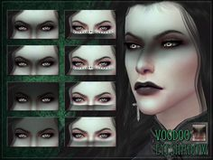 The Sims Resource - Voodoo Eyeshadow by RemusSirion for The Sims 4 The Sims 4 Pc, Sims Four, Sims 4 Cas, Sims Cc, Vampire Hair, Dark Fairytale, Sims 4 Cc Makeup, Sims 4 Cc Skin, Sims 4 Characters