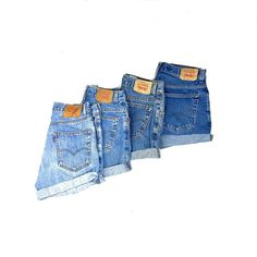 Vintage Levis Shorts High Waisted Denim Shorts Sizes xs s m l xl xxl - Cuff N Roll - 1