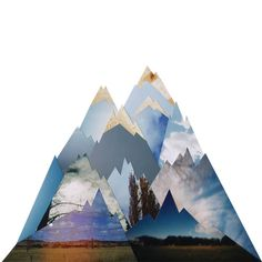 Mountains collage - from a project called Souvenir.