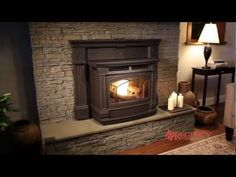 Traditional cast iron pellet insert featuring the latest in bio and alternative fuel combustion technology. Burn more, spend less with Regency Greenfire. Pellet Stove Fireplace Insert, Pellet Stove Inserts, Fireplace Inserts, Chimenea Simple, Fireplace Remodel, Fireplace Ideas, Cast Iron Stove, Wood Pellets, Home