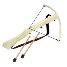 Wooden Crossbow with 2 padded bolts