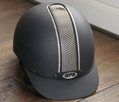 """Embellished GPA-""""Pro line"""", front grille adorned with crystal colored stones. Gebling does the decoration on your helmet."""