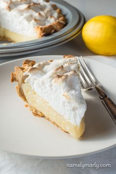 Enjoy this Vegan Lemon Meringue Pie on your holiday dessert table with a simple list of ingredients and delicious lemon custard sure to please everyone!