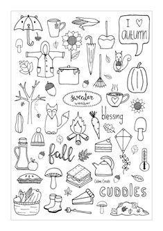 Doodle art 444378688233691093 - Freebie Friday – Fall Dashboard Source by dubreuillucill Planner Doodles, Bujo Doodles, Notebook Doodles, Doodle Drawings, Doodle Art, Fall Drawings, Autumn Doodles, Doodle Inspiration, Sketch Notes