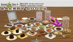 Around the Sims 4 | Bakery Goods As I'm converting Sims 4 cakes for the Sims 3, I've also converted for the Sims 4 the various cakes I had…