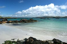 The Isle of Iona on Scotland's west cost. It boasts lots of stunning white beaches. The people here are wonderful.