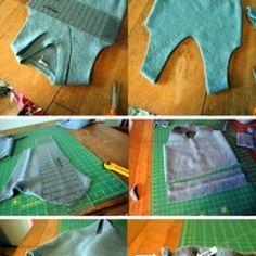 DIY sweater purse