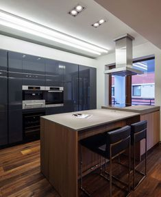 Dark, Deep Colored Contemporary Apartment