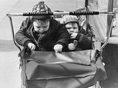 © Shirley Baker  Pushchair Twins, Stockport 1970 Vintage Photographs, Vintage Photos, Shirley Baker, Blackpool Beach, Street Portrait, Salford, Romance And Love, Great Photographers, Working Class